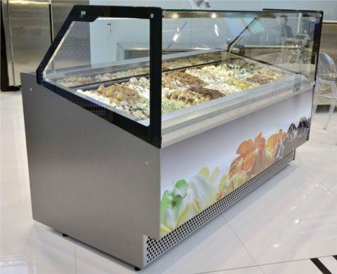 Vitrine pour crème glacée